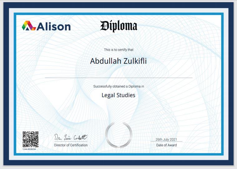 Diploma in Legal Studies